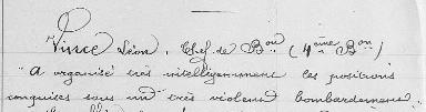 VINCE citation juillet1916